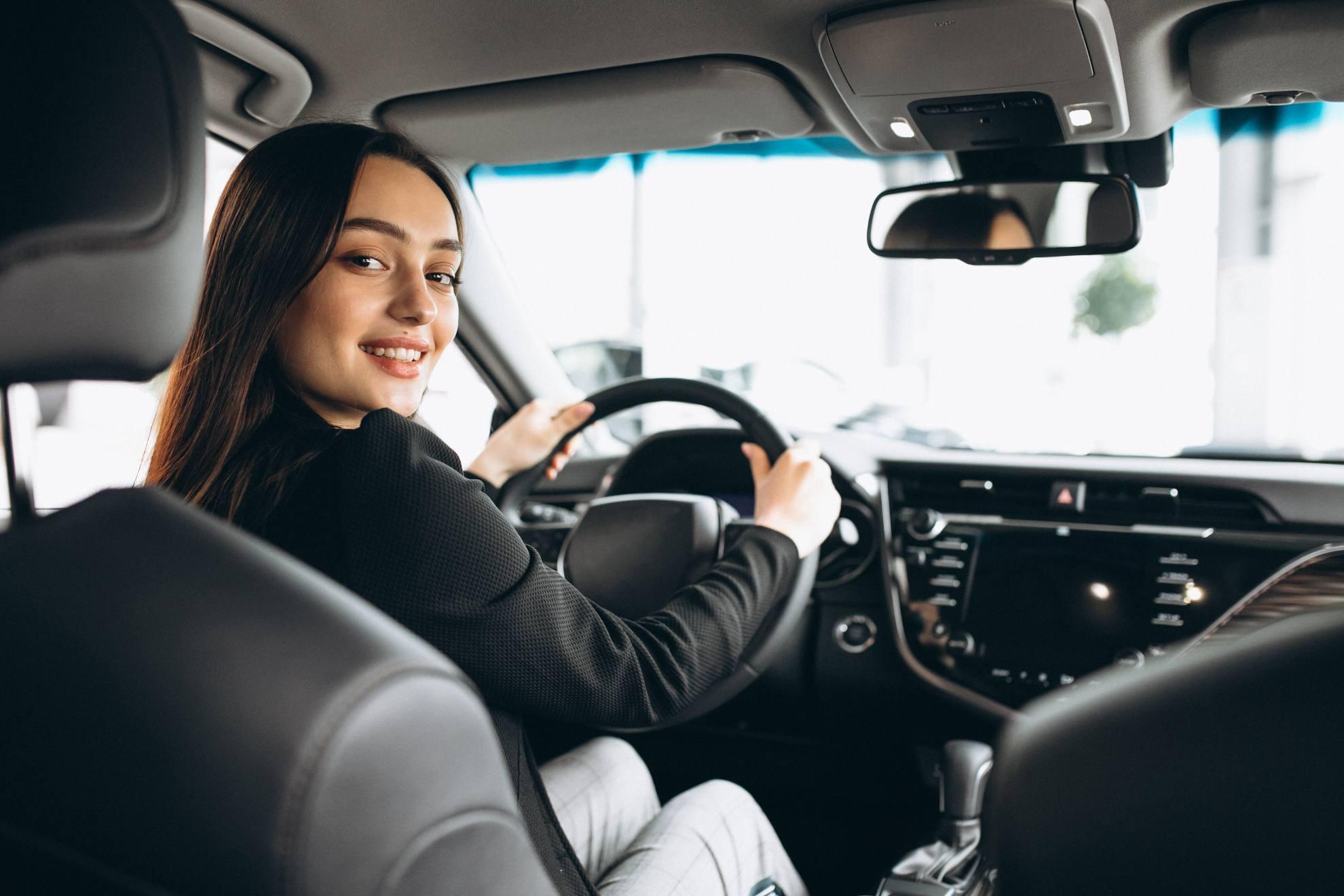 mujer sorda conducir